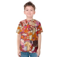 Abstract Abstraction Pattern Moder Kids  Cotton Tee
