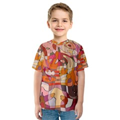 Abstract Abstraction Pattern Moder Kids  Sport Mesh Tee