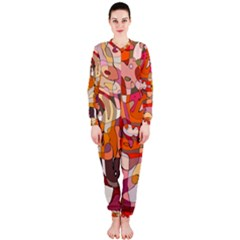 Abstract Abstraction Pattern Moder Onepiece Jumpsuit (ladies)