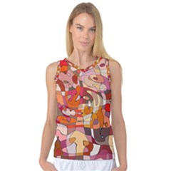 Abstract Abstraction Pattern Moder Women s Basketball Tank Top