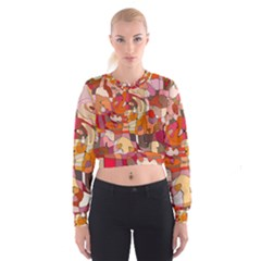 Abstract Abstraction Pattern Moder Women s Cropped Sweatshirt by Amaryn4rt