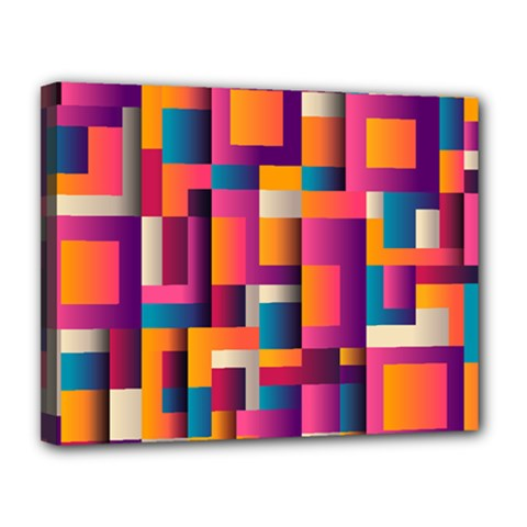 Abstract Background Geometry Blocks Canvas 14  X 11  by Amaryn4rt