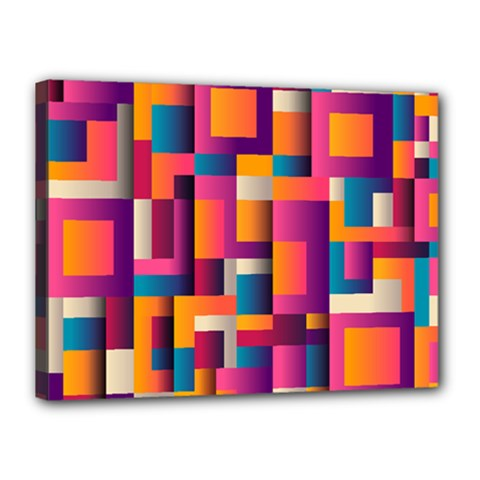 Abstract Background Geometry Blocks Canvas 16  X 12  by Amaryn4rt