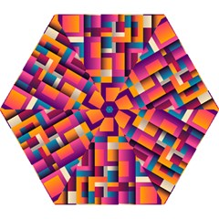 Abstract Background Geometry Blocks Mini Folding Umbrellas