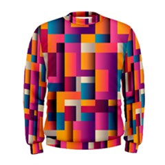 Abstract Background Geometry Blocks Men s Sweatshirt