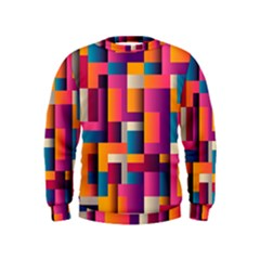 Abstract Background Geometry Blocks Kids  Sweatshirt
