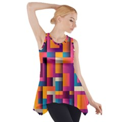 Abstract Background Geometry Blocks Side Drop Tank Tunic