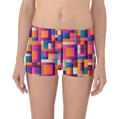 Abstract Background Geometry Blocks Reversible Bikini Bottoms