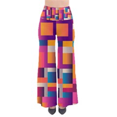 Abstract Background Geometry Blocks Pants by Amaryn4rt