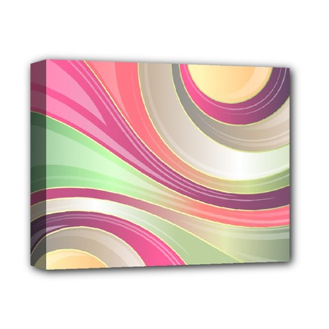 Abstract Colorful Background Wavy Deluxe Canvas 14  X 11  by Amaryn4rt