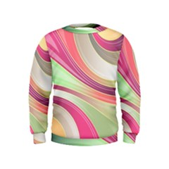 Abstract Colorful Background Wavy Kids  Sweatshirt by Amaryn4rt