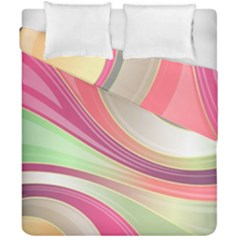 Abstract Colorful Background Wavy Duvet Cover Double Side (california King Size) by Amaryn4rt