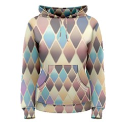 Abstract Colorful Background Tile Women s Pullover Hoodie