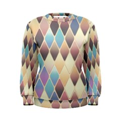 Abstract Colorful Background Tile Women s Sweatshirt