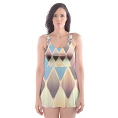 Abstract Colorful Background Tile Skater Dress Swimsuit