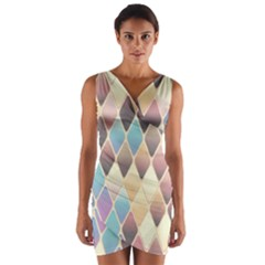 Abstract Colorful Background Tile Wrap Front Bodycon Dress by Amaryn4rt