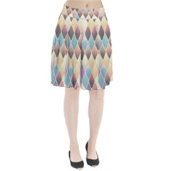 Abstract Colorful Background Tile Pleated Skirt by Amaryn4rt