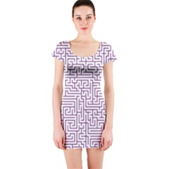Maze Lost Confusing Puzzle Short Sleeve Bodycon Dress by Amaryn4rt