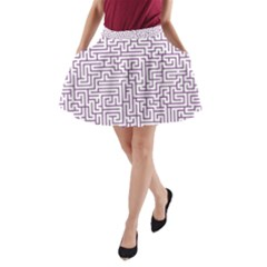 Maze Lost Confusing Puzzle A Line Pocket Skirt