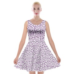 Maze Lost Confusing Puzzle Velvet Skater Dress by Amaryn4rt