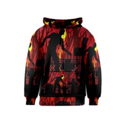 Horror Zombie Ghosts Creepy Kids  Zipper Hoodie by Amaryn4rt