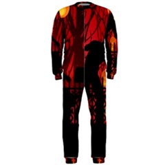 Horror Zombie Ghosts Creepy Onepiece Jumpsuit (men)  by Amaryn4rt