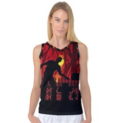 Horror Zombie Ghosts Creepy Women s Basketball Tank Top by Amaryn4rt