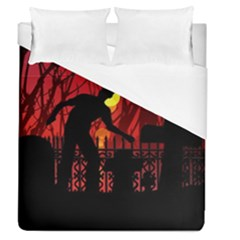 Horror Zombie Ghosts Creepy Duvet Cover (queen Size) by Amaryn4rt