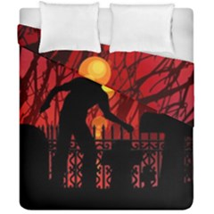 Horror Zombie Ghosts Creepy Duvet Cover Double Side (california King Size) by Amaryn4rt