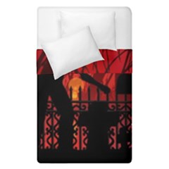 Horror Zombie Ghosts Creepy Duvet Cover Double Side (single Size) by Amaryn4rt
