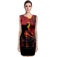 Horror Zombie Ghosts Creepy Classic Sleeveless Midi Dress by Amaryn4rt