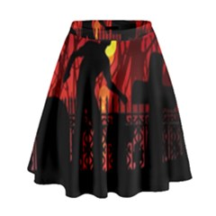 Horror Zombie Ghosts Creepy High Waist Skirt by Amaryn4rt