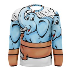 Elephant Bad Shower Men s Long Sleeve Tee