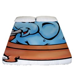 Elephant Bad Shower Fitted Sheet (queen Size)