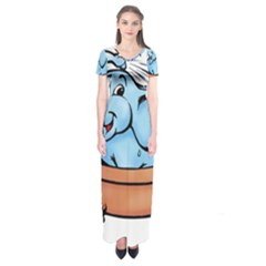 Elephant Bad Shower Short Sleeve Maxi Dress by Amaryn4rt