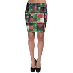 Paper Background Color Graphics Bodycon Skirt