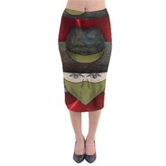 Illustration Drawing Vector Color Midi Pencil Skirt by Amaryn4rt