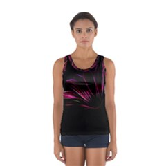 Purple Flower Pattern Design Abstract Background Women s Sport Tank Top