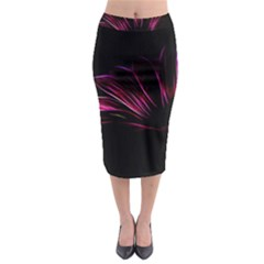 Purple Flower Pattern Design Abstract Background Midi Pencil Skirt by Amaryn4rt