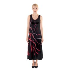 Pattern Design Abstract Background Sleeveless Maxi Dress by Amaryn4rt