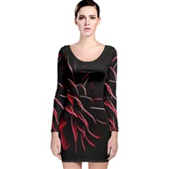 Pattern Design Abstract Background Long Sleeve Velvet Bodycon Dress by Amaryn4rt