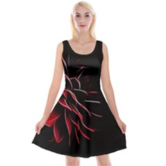 Pattern Design Abstract Background Reversible Velvet Sleeveless Dress