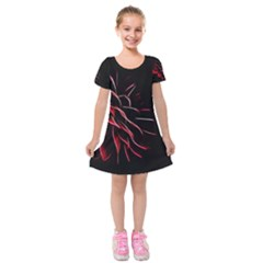 Pattern Design Abstract Background Kids  Short Sleeve Velvet Dress