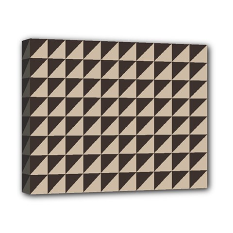 Brown Triangles Background Pattern  Canvas 10  X 8  by Amaryn4rt
