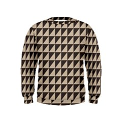 Brown Triangles Background Pattern  Kids  Sweatshirt
