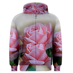 Rose Pink Flowers Pink Saturday Men s Zipper Hoodie