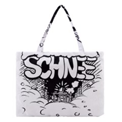 Snow Removal Winter Word Medium Tote Bag by Amaryn4rt
