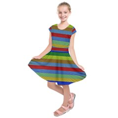 Pattern Background Kids  Short Sleeve Dress