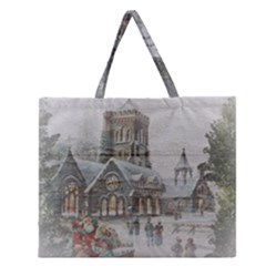 Santa Claus Nicholas Zipper Large Tote Bag by Amaryn4rt