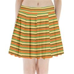 Striped Pictures Pleated Mini Skirt by AnjaniArt